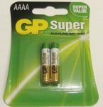 GP AAAA size battery ( 25AU2, card of 2). [25A-U2]